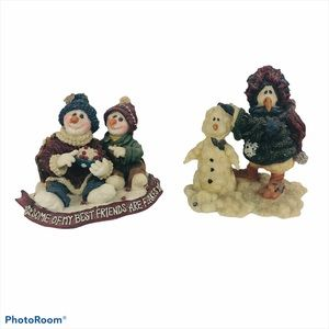 Boyds Bear Friendship Figurines Lot of 2 Detailed